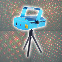 Wholesale Twinkling Mini Red Green RG Moving Party Laser Stage DJ Light Projector Disco Lighting AA65