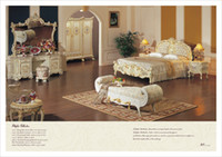 No solid wood bedroom set - Palace royal furniture Hot selling royal luxury bedroom furniture italian furniture