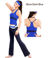 Wholesale Ladies yoga wear Special design tank top straight long pants women s fitness wear sports wear