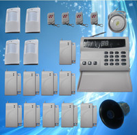 auto defense - 32 defense zones Wireless Home Security Alarm Systems Kit Auto Dial Burglar home alarm system S227