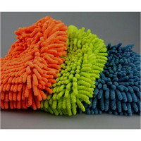 Wholesale Soft Mitt Chenille Microfiber Car Auto Coral Shape Wash Washing Cleaning Glove Gloves Home