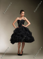 Wholesale Sexy Sweetheart Black gothic victorian Ball Gown Wedding Dresses JA8611