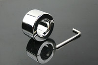 Wholesale stainless steel bondage sex products for men penis metal adult sex toy ball stretcher dragon rings