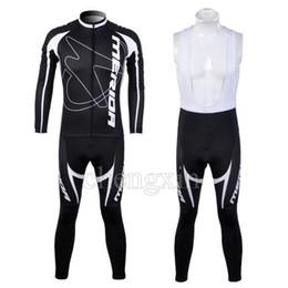 WINTER FLEECE THERMAL CYCLING LONG JERSEYCYCLING KIT+ BIB PANTS 2012 MERIDA BLACK&WHITE SET A028-SIZE:XS-4XL