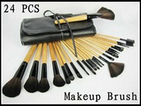 Wholesale Wooden Handle Makeup Brushes Cosmetic Make up Brush Set Tool A022