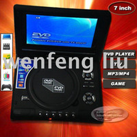 Wholesale GHJA137 New design portable inch DVD player with TV MP3 Mp4 game