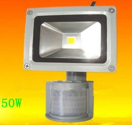 Wholesale! High Quality 50W PIR Motion detective Sensor LED Flood light Outdoor Led Floodlight
