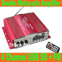 Wholesale GLL124 Channel USB SD FM With TDA7388 or TDA2005 Double Motocycle Amplifier MP3 Remote Control