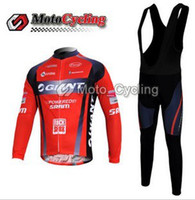Wholesale WINTER FLEECE THERMAL CYCLING LONG JERSEY BIB PANTS GIANT SRAM RED SET SIZE XS XL