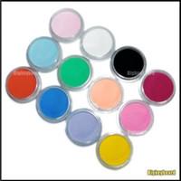 Wholesale 12 Mix Colors Acrylic Powder Builder Nail Art Set