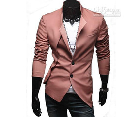 Wholesale 2013 Hot New Men s suits False twinset fashion personality asymmetric design Trend suit FREE SH