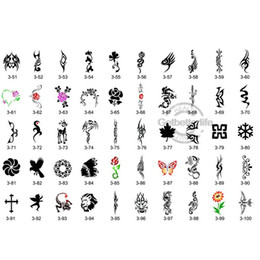 Wholesale Temporary Airbrush Tattoo Stencil Book Template Designs PH SB003
