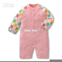 Wholesale baby thick onesies Rompers One Piece Romper animal Long sleeved bay clothing autumn pink