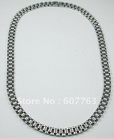 Wholesale New Super Noble Fashion High Quality Men s L Stainless Steel Rolex Style Band Link Necklace