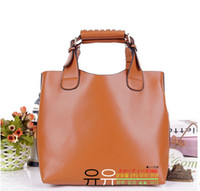 Wholesale Ladies Vintage Celebrity Tote PU Leather Handbag Shopping Shoulder Bag Adjustab Handle