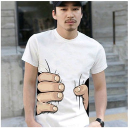 Wholesale M big Hand t shirt Man women clothes Printing Hot D visual creative personality spoof grab your c