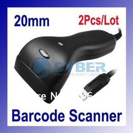 Wholesale 2Pcs mm Long CCD Red LED Light USB Barcode Scanner Reader