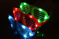 Wholesale Happy new year fashion shutter LED flash glasses LED window shades sunglasses for party