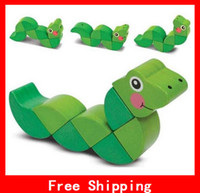 Wholesale New Melissa Doug Wiggling Worm Snake Grasping Toy Children s Educational Toys Activities Baby Hands