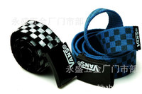 Wholesale Korean version of the spike belt VANS cars Aberdeen black and white checkered canvas belts
