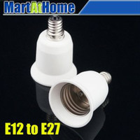 Wholesale 10PCS E12 to E27 LED Candelabra Bulb Lamp Socket Adapter Converter BK015 CF