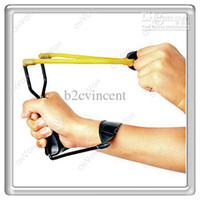 Wholesale S5Q High Velocity Folding Wrist Slingshot Hunt Sling Shot Camping Hunting Toys
