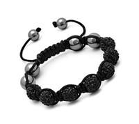 South American american express black - Handwork Pretty black Macrame Bracelets with Disco Ball Crystal Free Express