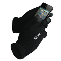Wholesale 50pairs Christmas Gift Unisex Black Screen Smart Gloves for all capacitive products