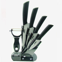 Wholesale Six Combinations inch inch inch inch Knife One Peeler Block Holder Ceramic Knives Set