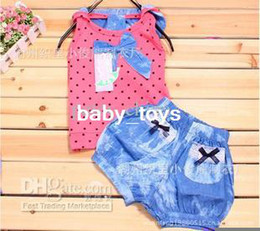 Wholesale Hooded Denim shorts with a big bow short sleeved suit