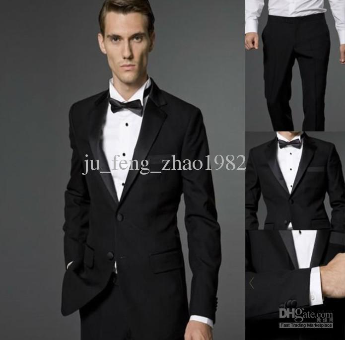 Black Groom Tuxedos 2013 Best Man Suit Wedding Groomsman/Men Suits ...