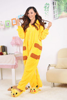 Wholesale Promotion Kigurumi Pajamas Pyjamas Cosplay Costume Pikachu Garment Coral fleece