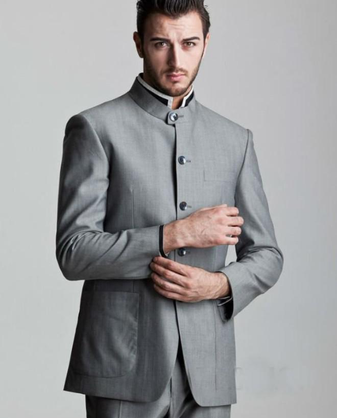 Silver Groom Tuxedos 2014 Formal Best Men'S Suits Groomsman ...
