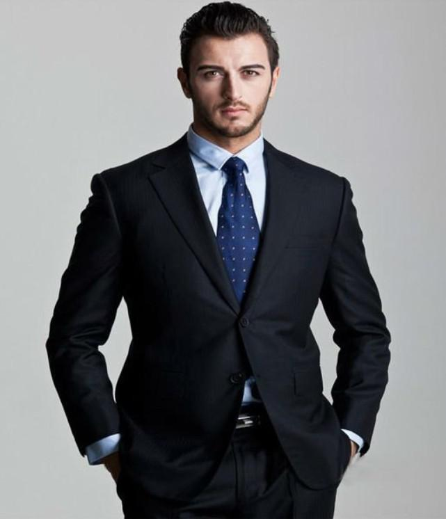Men's Suits Black Groom Tuxedos Formal 2013 Groomsman Bridegroom ...