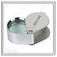 Wholesale S5Q x mm Lens Metal Pocket Jeweler Eye Loupe Magnifier Jewellery Magnifying