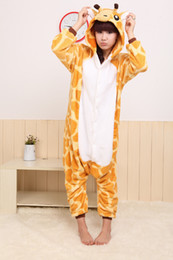 Wholesale Promotion Kigurumi Pajamas Pyjamas Cosplay Costume giraffe Garment Coral fleece