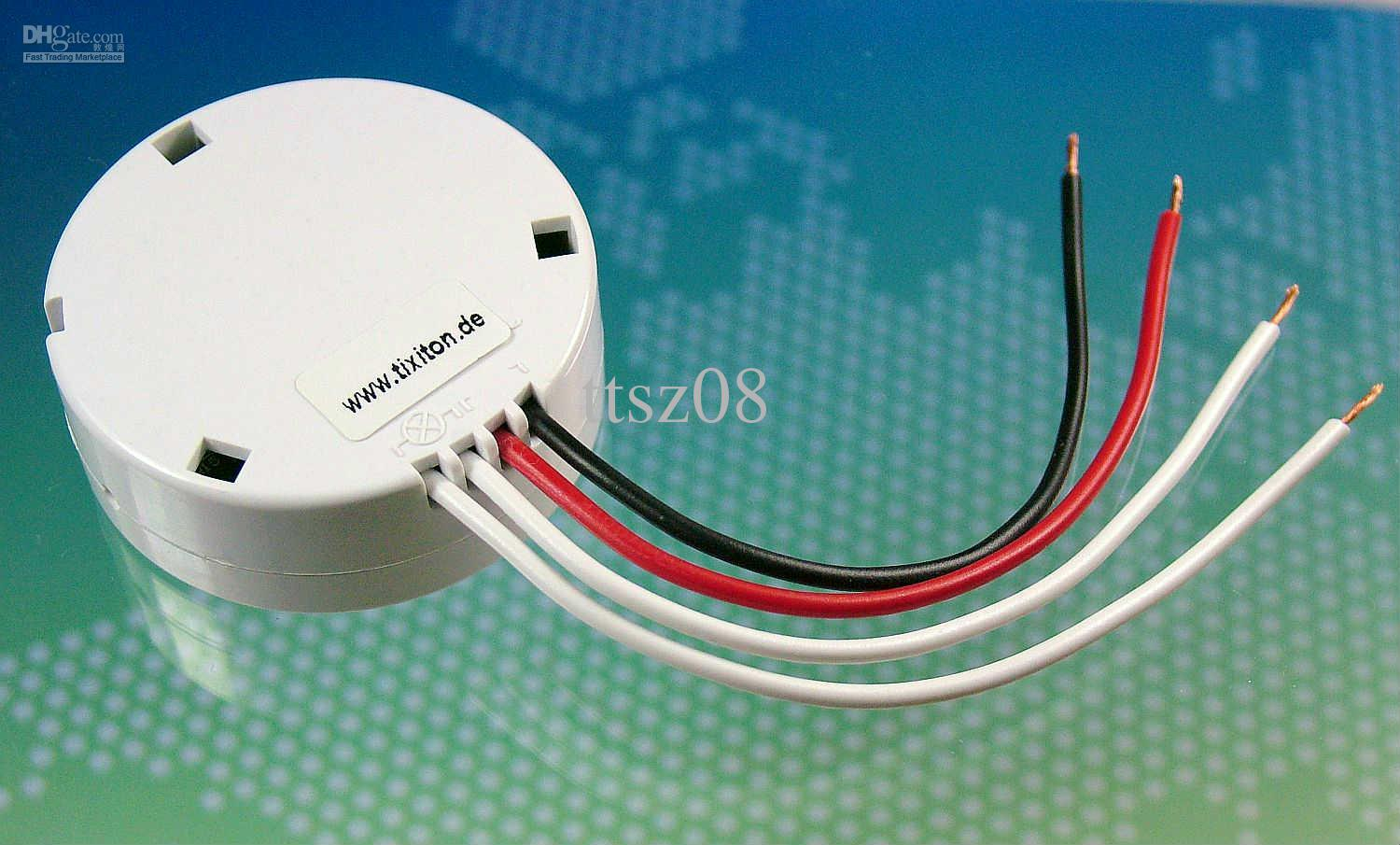 2017 220v Tixiton Glass Touch Wall Light Switch Dimmer Remote Control Wireless Receiver Low ...