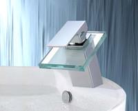 Waterfall bar decking - chrome bathroom basin stream Faucet Mixer Tap Sink bar fg407