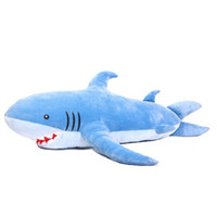 Pillow  Blue The Valentines Day 1.8m 70inch Blue Huge Shark Plush Toys Sofa Back Cushion Pillow Stuffed Animals Gift Household Items