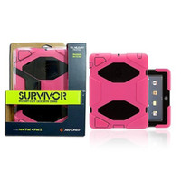 Protective Shell/Skin 9.7'' For Apple Survivor II Military Duty Case+Stand & Original Box for New iPad 2 &3 & 4-20pc ,Free Shipping