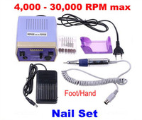 Wholesale Electric Nail Art Manicure Pedicure Drill Polish Machine File Bits Kit V V RPM