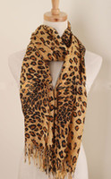 Wholesale Scarves Sexy Leopard Long Scarves cm OPP Packing Manmade Cashmere Clearance Sale Cheap