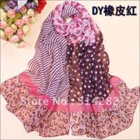 women muslim scarf - Women georgette silk polka dot long winter hijab muslim design scarf scarves cm
