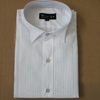 New Men's Wedding Prom Groom Shirts White Bridegroom Casual ...