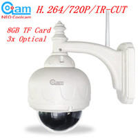 Wholesale H P IR CUT WIFI PTZ Outdoor Waterproof Dome IP Camera Built in GB TF Card xOpitical S572