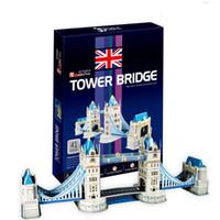 Wholesale 3D puzzle and London bridge paper puzzle toys stereo paper DIY puzzle puzzle hot