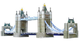 3D puzzle and London bridge paper puzzle toys stereo paper DIY puzzle puzzle hot!! free shipping