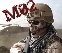 Wholesale M02 Skull Mask Full Face Airsoft Protector Mask Cacique soldier mask cosplay mask skull Halloween