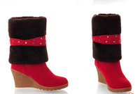 Ankle Boots Snow Boots Women Fashion knight boots Women's Martin Boots Warm Snow Boots Beige Red Yellow Brown boots knight boots