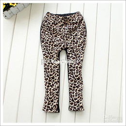 Wholesale kids pants LEOPARD pants children pants Leggings baby trousers children trousers cotton